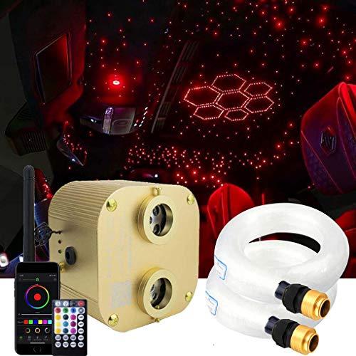 AZIMOM Bluetooth 20w Upgraded Fiber Optic Lights Twinkle Star Ceiling Lighting Kits...