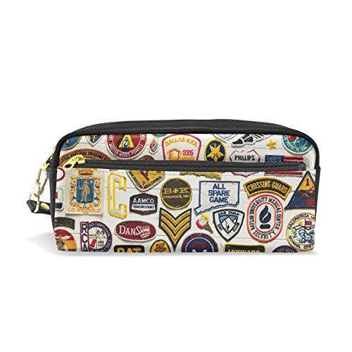 Estuche para lápices con cremallera grande bolsa de maquillaje brazalete bolso de lápiz caja para niños y niñas suministros escolares