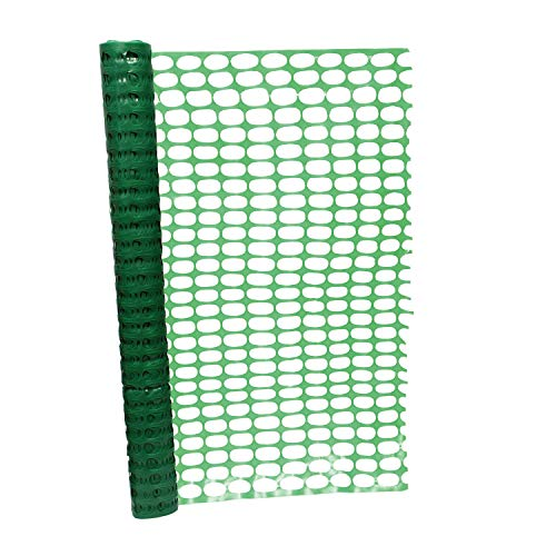BISupply 4 FT Safety Fence – 100 FT Plastic Fencing Roll for Construction Fencing Pet Fencing and Event Fencing  Green