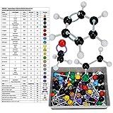 Modelos Moleculares Química - 267 Pcs Molecular Orgánica Estructura inorgánica Kit Atom Enlace Set de Modelo for el Profesor Estudiante