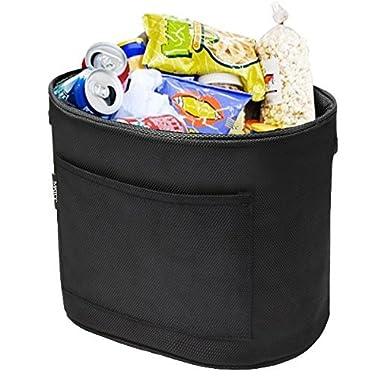 MATCC Car Garbage Can Velcro Car Trash Bin Waterproof Thick Litter Bag Car Storage Bag Back Seat Organizer