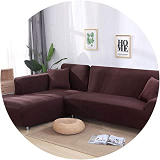 ZFADDS New Elastic Sofa Cover Cotton Covers for L-Shape Corner Sectional Sofa Cover for Living Room,Color 16,3 Seater and 3 Seater