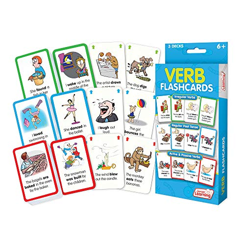 Verb Flashcards – Junior Learning Flashcards – Multicolore