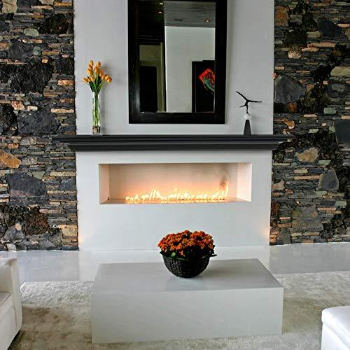 Pearl Mantels 618-72B Crestwood Wall Shelf, 72-Inch, Black, 72 Inch