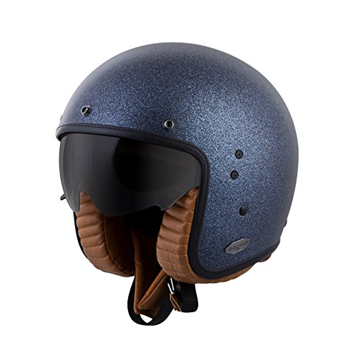 ScorpionExo Belfast 3/4 Open Face Helmet (Matte Metallic Blue, X-Large)