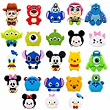 23 PCS Anime Characters Shoe Charms for Croc Wristband Bracelet and Shoes with Holes Teens Boys Girls Party Birthday Easter Gifts