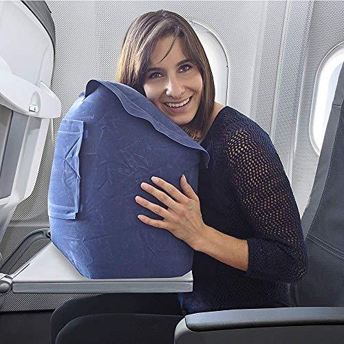 Skyrest 2 Pack Inflatable Travel Pillow, Portable Head Neck Rest Pillow, Patented Design for Plane, Car, Bus, Train etc