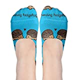 Yoigng No Show Socks Cute Hedgehog Womens Funny Low Cut Ankle Tube Liner Non Slip Flat Boat Stockings