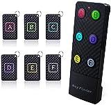 Localizador de llaves remoto JTD inalámbrico para localizador de artículos/RF inalámbrico con linterna LED y soporte de base para llaves, mascotas teléfono celular