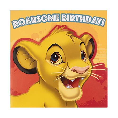 Hallmark Geburtstagskarte für Kinder, Motiv König der Löwen, gestanztes Simba-Design