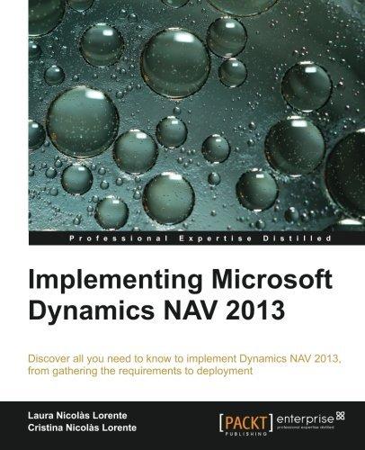 [(Implementing Microsoft Dynamics NAV 2013 * * )] [Author: Laura Nicolas Lorente] [Apr-2013]