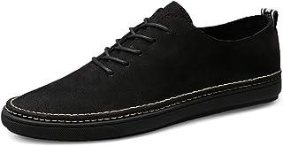 Men's Lightweight Soft Oxfords Categoric Heel Stave Toe Lace Up Leisure Shoes casual shoes (Color : Black, Size : 46 EU)