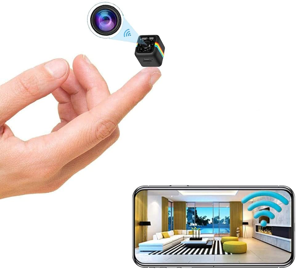 Mini Camera Wireless Camera WiFi Camera Nanny Cam, 1080p / 2K HD Camera Home Security Camera, Long Sleeve Night Vision Outdoor Small Camera,Dog Pet Camera for Mobile Phone Applications in Real Time