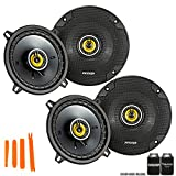 Kicker 46CSC54 - Two Pairs of CS-Series CSC5 5.25-Inch (130mm) Coaxial Speakers, 4-Ohm (2 Pairs)