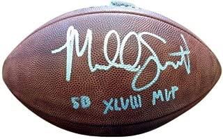 Malcolm Smith Signed Super Bowl Leather Football Seattle Seahawks SB XLVIII MVP - Autographed NFL Footballs