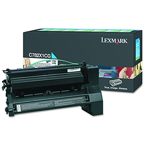 Price comparison product image Lexmark C782X1CG Extra High-Yield Toner,  15000 Page-Yield,  Cyan