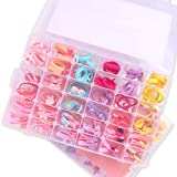 NeWisdom 72 PCS Toddler Girls Hair Accessory Set with Gift Packing Organization Box, Gifts for Grandkids, Cute Hair Bows Hair Clips Hair Bands for Girls Toddlers, Multi-Style Elastic Hair Ties Hair Accessories for Baby Girls Age 3 4 5 6
