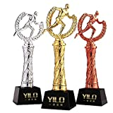 Trofeos Deportivo de Corredor, Premio al Campeonato, el Honor del Ganador, la Base se Puede Grabar, Primero a los recompensas del Tercer Lugar (Color : 3 Piece Set, Size : 29 * 8cm)