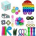 Paquete de 28 piezas de juguetes Fidget, juguetes sensoriales Fidget baratos, Fidget Toy Set Fidget Packs Fidget Box, Fidget Pack con Stress Ball Marble Mesh, regalos para niños, adultos con autismo de DADAB