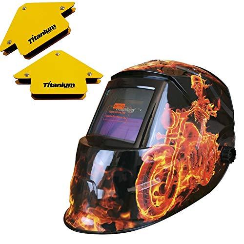 Mascara De Solda Auto Escurecimento Automático J230 Fire + Esquadros Titanium