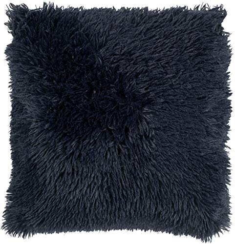 Dutch Decor Dekokissen Blau - Fluffy 45x45 cm Dunkelblau/Insignia - Zierkissen ohne Füllung Kissenhüllen quadratisch Kissen Polyester