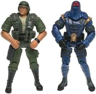 G.I. Joe Vs. Cobra Duke (Green Uniform) vs Cobra Commander Action Figure