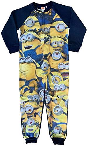 Minions - Pijama de una pieza para niños Onezee de forro polar todo en uno