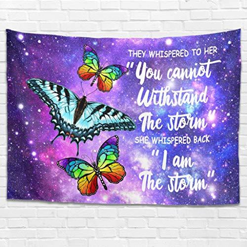 Dofeely They Whispered to Her Butterfly – Tapiz de pared Berg Comforter Yoga Mat, paisaje Tapisserie decoración para dormitorio salón, poliéster, blanco, 200x150cm