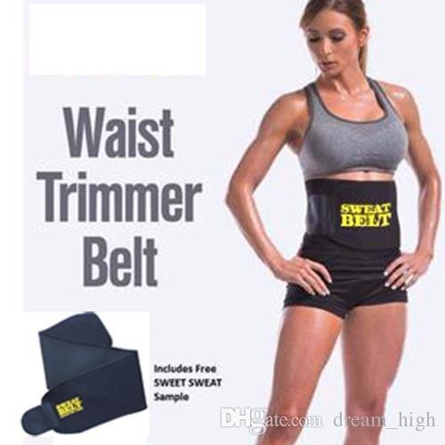 KRITAM Women Men Waist Trimmer Belt Weight Loss Sweat Band Wrap Fat Burner Tummy Stomach Sauna (Pack of 20 belt)
