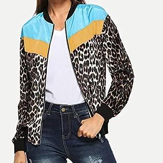 HAWEEL Leopard Splicing Coat Windbreaker Jacket