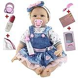 VUGO Bébé Reborn Garçon Silicone Poupée 55 cm Réaliste RenaîTre Baby Doll Fille Nouveau-née Enfants PoupéE Jouet Main Cadeau d'anniversaire