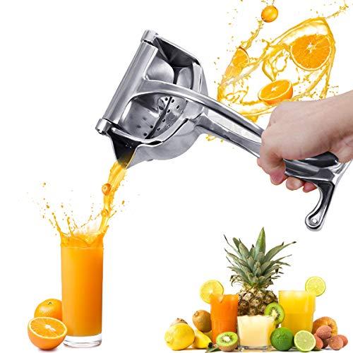 Kabi Zitronenpresse, Zink-Legierung Manuelle Saftpresse, Manuelle Zitruspresse,Mini Saftpresse Fresh Juicer Grinder Tool mit Skimmer Spoon, Hohe Festigkeit, schneller und effektiver