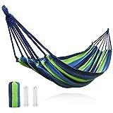 V VONTOX Hamac Ultra-léger de Jardin, Portable Respirant Double Hamac Charge 230 kg pour Les Voyages, Le Camping