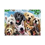 Puzzle de 1000 piezas con temática de perros, rompecabezas de Navidad genial, rompecabezas de patrón de perros coloridos y duraderos, juego de rompecabezas, juguetes de Navidad, regalos para niños