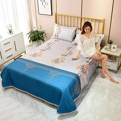 MACHAO Summer Foldable Air Conditioning Mat,Summer ice silk mat, air-conditioning soft mat, soft, comfortable and refreshing, foldable, washable-A04_Three sets of 200 * 250cm