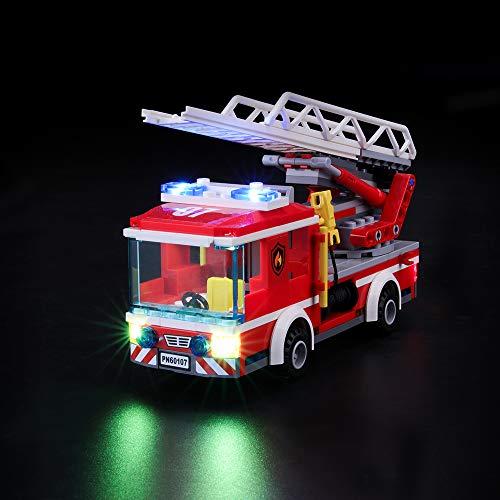 BRIKSMAX Kit di Illuminazione a LED per Lego City Pompieri Autopompa dei Vigili del Fuoco, Compatibile con Il Modello Lego 60107 Mattoncini da Costruzioni - Non Include Il Set Lego