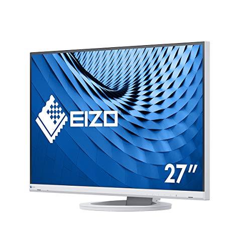 EIZO FlexScan EV2760-WT 68,5 cm (27 Zoll) Ultra-Slim Monitor (DVI-D, HDMI, USB 3.1 Hub, DisplayPort, 5 ms Reaktionszeit, Auflösung 2560 x 1440) weiß