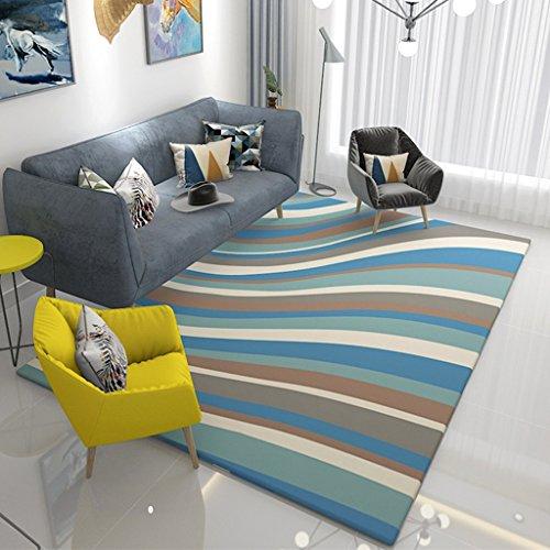 Teppich stilvolle Wohnzimmer Teppich Schlafzimmer Studie teppiche europäische Sofa couchtisch Teppich rutschfeste waschbar fusselfrei (Color : 140X200CM)