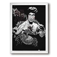 Bruce Leeブルース・リー アートパネル 装飾画 額縁付き インテリア 壁掛け 簡潔なファッション 壁飾り ウォール装飾 北欧 現代 ウォールアート 木枠額装絵画 アートフレーム 個性的 玄関 リビングと寝室の飾り 部屋装飾 おしゃれ 写真 ソファの背景絵画 贈り物