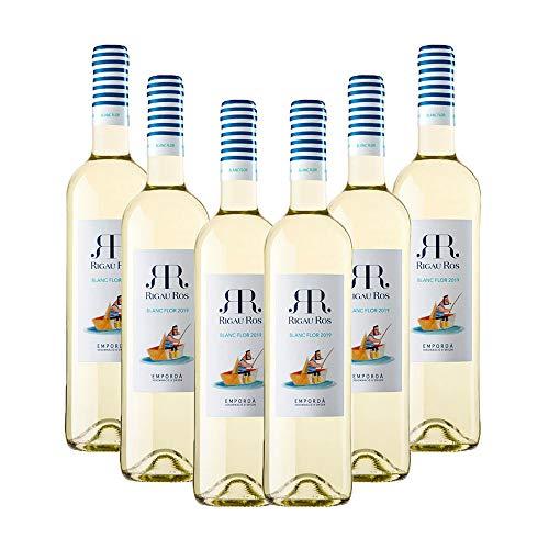 Vins&Co Barcelona Vino Blanco Rigau Ros Blanc Flor – D.O. Empordà – Pack De 6 Botellas – Selección Vins&Co - 750 ml