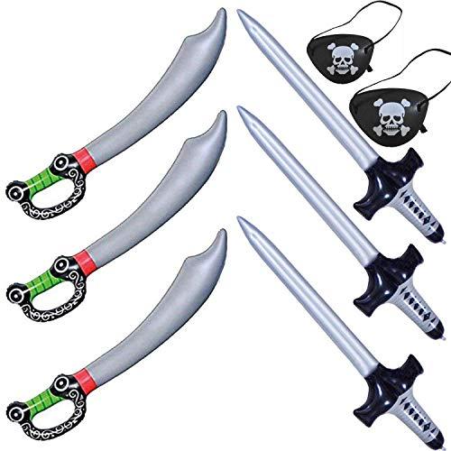 Karibik Piraten Schlauchboote Schwerter Messer Stick Luftballons Für Piraten Thema Kostüm Requisiten Partei Liefert Gefälligkeiten Dekorationen Kostüm Requisiten Zubehör Kinder Erwachsene (6 STÜCKE)