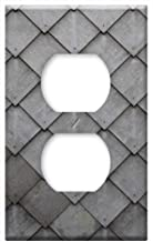 Switch Plate Outlet Cover - Shingle Slate Tile Diamonds Grey Pattern Wall
