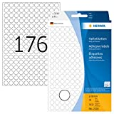 Herma 2210 - Etiquetas multiuso, diámetro 8 mm, redondo, papel, mate, 5632 unidades, color blanco