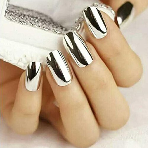 Vovotrade 5g / Box Nail Silver Glitter poudre Nail Brillant Miroir Powder Makeup Art DIY Chrome Pigment_Argent