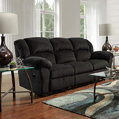 Roundhill Furniture Dual Microfiber Reclining Sofa, Allure Grey