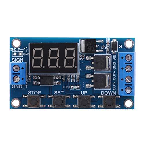 balikha Módulo de Relé de Interruptor de Tiempo de Retardo con Pantalla Digital LED DC5V-6V Ajustable