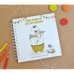 Erinnerungsbuch blanko, erstes Schuljahr, personalisierbar, Album für Fotos, Einträge, Schulstart