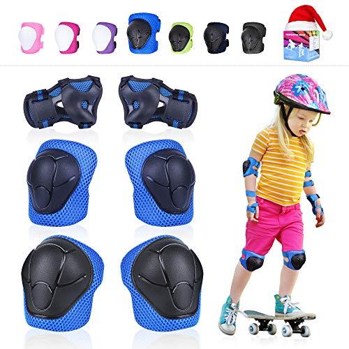 Vikaster Juego de Protecciones Infantil,de protección de para Rodilleras para niños,Safeguard, Knee Usado para Bicicleta, patineta, Patinaje, Scooter y Otros Deportes Extremos al Aire Libre