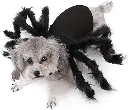 IvyH Decoración de Mascotas de Halloween, Disfraz de Perro Gato simulación de Terror Disfraz de araña de Felpa Fiesta de Disfraces para Cachorro Gatito (S)