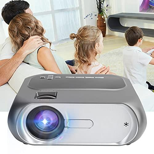 Proyector LED, Larga Distancia de proyección Versión Inteligente 1280x720P Compatible con conexión de Interfaz múltiple Mini proyector para Exteriores para Cine en casa(Transl)